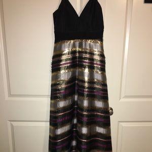 Lamè Stripe Gown